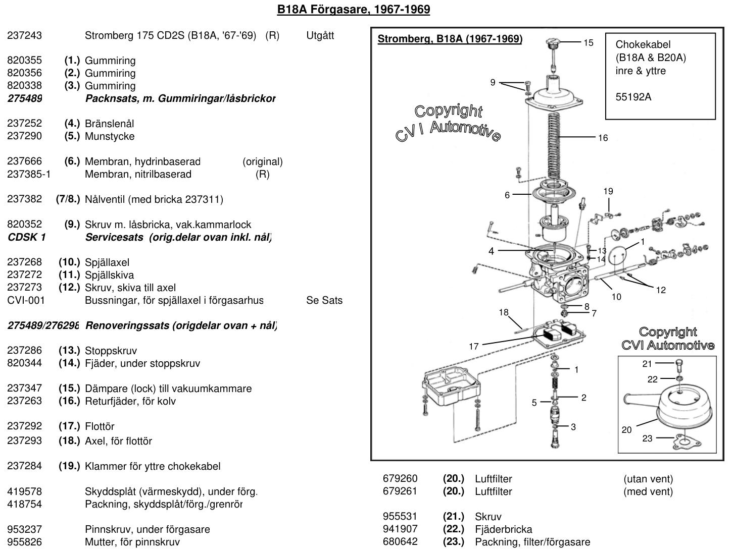 Sprängskiss - Stromberg 175 CD2S