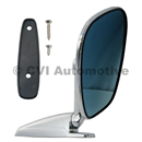 Door mirror, blue-tinted flat (affixed via screws outside)