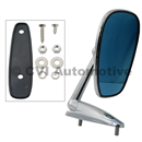 Door mirror, blue-tinted flat (affixed via nuts fr inside)