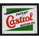 Castrol glass enamel sign (225mm/180mm)