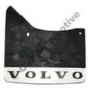 Mudflap rear, 140/164/200 '67-'85 LH (Volvo genuine with white logo)