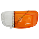 Flasher lens standard, AZ B18/B20 LH (orange/clear)